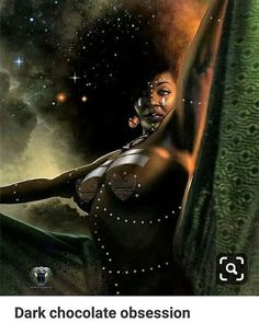 African woman as timeless prophecies unraveling into the complex designs of Knowing. It is a rare enlightenment dismissed by predators trolling for sex and church people defining womanhood by Euro-Jesus standards. - Dawn Wolf, Keeper of Stories Art Black Love, Sexy Black Art, Black Girl Art, Art Girl, African American Art, African Art, Fantasy Kunst, Fantasy Art, Art Amour