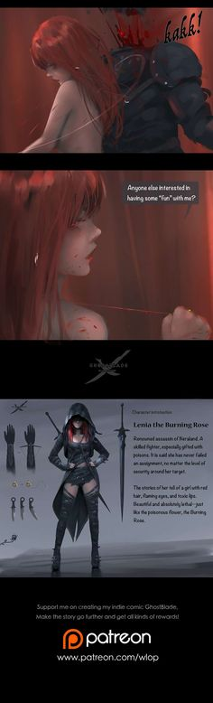 GhostBlade :: Chapter 5: The Burning rose (Part II) | Tapastic Comics - image 3