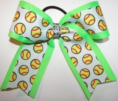 Glitzy Softball Neon Lime Rhinestone Bow Softball Hair Bows, Softball Shirts, Cheer Bows, Softball Players, Softball Cheers, Softball Pitching, Softball Stuff, Volleyball Drills, Volleyball Quotes