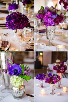 royal purple centerpieces