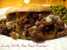 Philly Cheese-Steak sloppy joes.  Not healthy.. but looks like my taste-buds would love them!!
