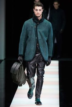 Giorgio Armani Fall 2015 Menswear - Collection - Gallery - Style.com  Like the smokey eye...