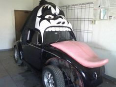 The Gene Simmons Volkswagen Beetle. Hahaha... Watch out lady's, don't get excited..
