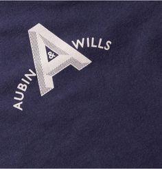 Aubin & Wills Farleigh Printed Cotton-Jersey T-Shirt