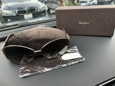 af8468b6424 Tom Ford Womens Oversized Cat Eye Aviator Penelope Sunglasses Brown Gold  Tone  fashion  clothing