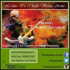 """Acquista ora il tuo biglietto """" DAVID GILMOUR """" info line: 068841342 www.ticketplease.it mail: info@ticketplease.it La nostra sede: via Viterbo n.6, Roma. Spediamo in tutta Italia con Bartolin Le date: 10 e 11 luglio Verona, Arena #tour #teatro #spettacolo #musica #pinkfloyd #DavidGilmour @Davidgilmourfan @pinkfloyd @the_blog"""