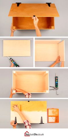 Learn how to make this amazing wooden trunk. It will give your bedroom a modernized look! Want more storage and space ideas? Find many more at www.youjustdo.co.uk