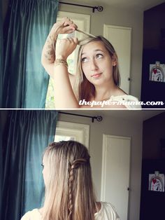 SOoooo.... the Simple Twist - Cascade Braid... hopefully I easily explain this for all of you. It's SO freakin' simple... It will look lovely with many types of hair! Ok... here we go...