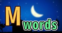 A great video to teach kids some simple words beginning with letter M.