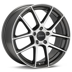 "ASA GT12 Machined w/Anthracite Accent 17"" - GOLF MKVI"