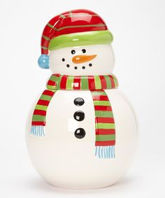 Take a look at this Snowman Cookie Jar by Design Imports on #zulily today!