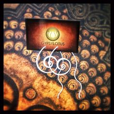 Sterling silver swirled earrings by Gypsy Lotus  on Etsy, $36.00