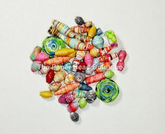 Hand Rolled Loose Paper Beads Supplies by ThePaperBeadBoutique