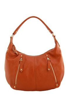 Tribeca Genuine Leather Hobo Bag