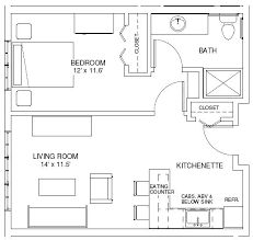 1 bedroom guest house floor plans one bedroom house plans one bedroom find house plans this is exactly what i was thinking 1 bedroom bungalow floor pl. 1 Bedroom House Plans, Guest House Plans, Cabin Floor Plans, Small House Plans, Studio Floor Plans, The Plan, How To Plan, Apartment Floor Plans, One Bedroom Apartment