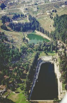 Aerial photo of Solomon's  Pools, land of Israel.