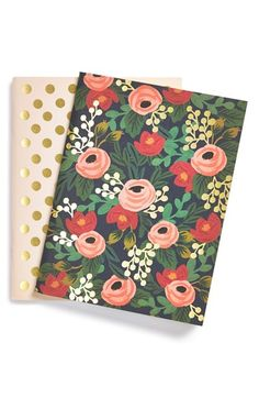 Free shipping and returns on RIFLE PAPER CO  Pocket Notebooks (Set of 2) at Nordstrom.com. Gilded dots and vintage-inspired roses decorate two pocket notebooks that just might inspire you to finally start that short story.