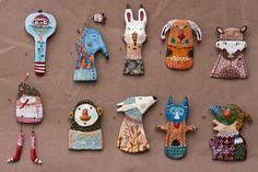 My new family | Handmade brooches. Available on my etsy shop… | Flickr