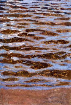 The Athenaeum - Waves (Akseli Gallen-Kallela - Finnish painter Illustrations, Illustration Art, Nordic Art, Scandinavian Art, Water Art, Water Reflections, Paintings I Love, Oil Paintings, Z Arts