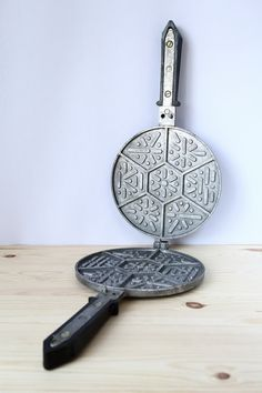 Vintage waffle iron Cookie pan Cookie cutter by TimeTestedFinds #retro #rustic #kitchen