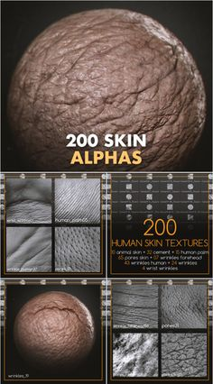 Working in Zbrush, these high quality alphas will be a great tool to help bring your creatures and skin things/body. Zbrush Character, 3d Model Character, Character Modeling, 3d Modeling, Zbrush Tutorial, 3d Tutorial, Digital Art Tutorial, Human Skin Texture, Alpha Art
