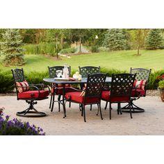 Walmart.com: Better Homes and Gardens Fairglen 7 Piece Dining Collection, Seats 6: Patio Furniture & Decor