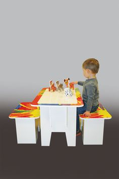 FunDeco Kids Craft Table is great for kids of any age! It assembles quick and easy without tools!