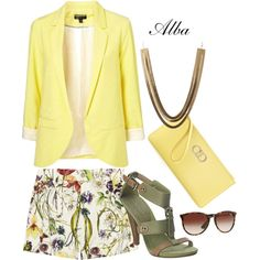 """yellow day"" by alba-tuttel on Polyvore"