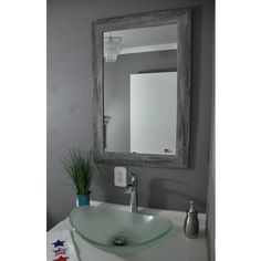 Shop for American Made Rayne Grey Barnwood Mirror. Get free shipping at…