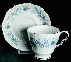 Hyacinth's Teacups...Royal Doulton with Hand Painted Periwinkles (I have two of these)