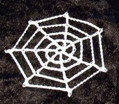 Crochet Spider's Web ~ free pattern