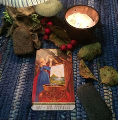 """Real life tarot images from Diane (craftedcb)instagram """"the Fferyllt''"""