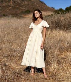 The Monarch Dress in butter by Christy Dawn