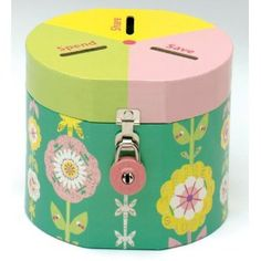 Garden Money Bank with different sections for spend, save, give $13