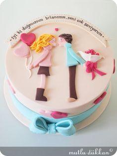 SEVGİLİYE BUTİK PASTA | Mutlu Dükkan - Butik Kurabiye, Cupcake ve Pastalar