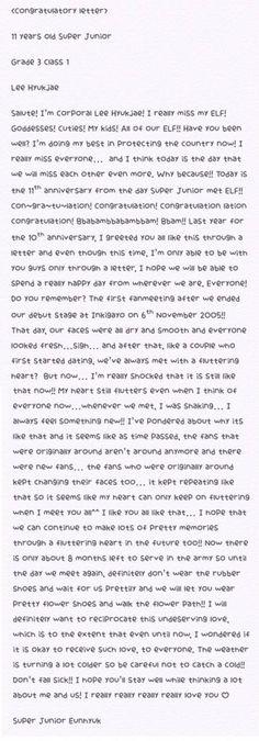 161106 Eunhyuk's 11th anniversary letter ♡ #11yearswithSuperJunior #슈퍼주니어11주년 #SuperJunior11thAnniversary