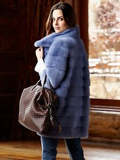 horizon blue mink, handmade. vala coat by simonetta ravizza.