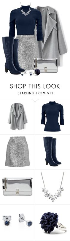 """Silver Lining."" by tuomoon ❤ liked on Polyvore featuring Topshop, Jilsen Quality Boots, Miu Miu, Givenchy, Joy Everley and Hring eftir hring"