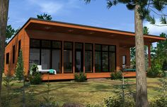 Awesome Plan Maison Kyo that you must know, You?re in good company if you?re looking for Plan Maison Kyo Passive Solar Homes, Passive House, Cottage Design, House Design, Plan Chalet, Building A Cabin, Archi Design, Modern Bungalow, Cottage Plan