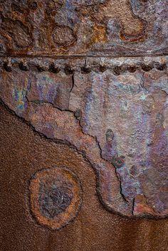 Janet Little Jeffers, Rust in Antarctica!, Detail from Deception Island.