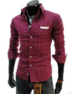Slim fit Leather Patched Pocket Checker Shirt