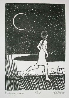 Dream river Linocut edition of Very Gorey esque 😀 Linocut Prints, Art Prints, Lino Art, Scratch Art, Wood Engraving, Woodblock Print, Art Lessons, New Art, Art Inspo