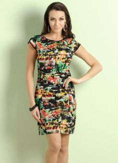 Vestido Estampa Tropical