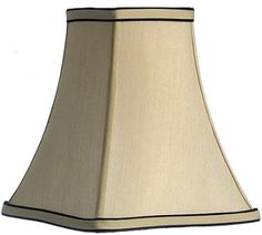 """Creamy Beige Square Lamp Shade Soft Sewn In White Sateen Fabric Lining 2.5""""x5""""x5""""; 4""""x8""""x8.5""""; 6""""x10""""x10.5"""""""