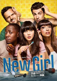 NEW GIRL (2011) 30 min. - Comedy. After a bad break-up, Jess, an offbeat young woman, moves into an apartment loft with three single men. Although they find her behavior very unusual, the men support her - most of the time.
