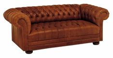"club style couches | Chesterfield ""Designer Style"" Leather Tufted Studio Full Sleeper Sofa"