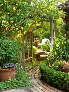 Paths add a whimsical feel to this lush garden. See more ideas for patios: http://www.bhg.com/home-improvement/porch/outdoor-rooms/outdoor-room-ideas/?socsrc=bhgpin042313gardenpath=6 #beautifulbackyardgarden
