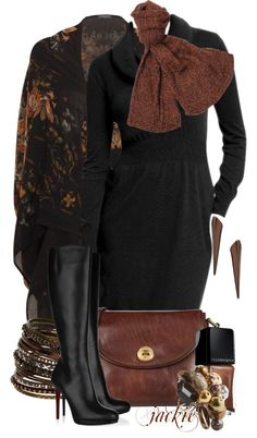 """Sweater Dress"" by jackie22 ❤ liked on Polyvore"