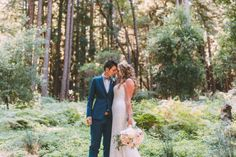 These two brides had a rustic redwoods wedding (despite a big challenge with some fiddlers!)