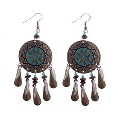 Cheap long earrings, Buy Quality earrings style directly from China earrings long Suppliers: Amader Bohemian Ethnic Style Women Round Earrings Retro Pattern Metal Feathers 2017 New Top Quality Alloy Ladies Long Earrings Round Earrings, Dangle Earrings, Retro Pattern, Fashion Earrings, Fashion Jewelry, Ethnic Fashion, Artisan Jewelry, Dangles, Jewelry Accessories